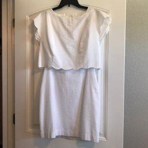 Lauren James Seersucker White Dress